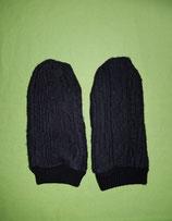 Handschuhe Strick schwarz/schwarz Gr. 4