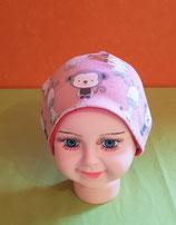 Beanie short Tiere/pink KU 43/45