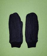 Handschuhe Strick schwarz/schwarz Gr. 2