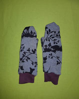 Handschuhe Waldtiere/lila lang Gr. 3