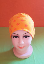 Beanie short Sterne/orange KU 46/48