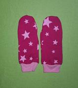 Handschuhe Sterne rosa-pink/rosa lang Gr. 1