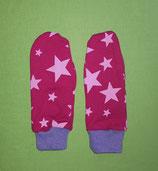 Handschuhe Sterne pink/lila lang Gr. 0