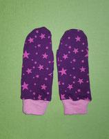 Handschuhe Sterne pink-lila/rosa lang Gr.0