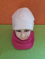 Halssocke Punkte pink/weiß KU 49/53