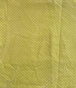 Mund-Nasenbedeckung grün/weiße Punkte