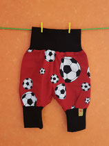Pumphose Fußball rot/schwarz