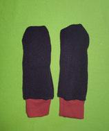 Handschuhe Strick lila/rot lang Gr. 2