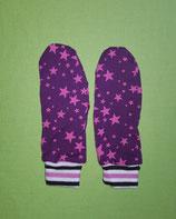 Handschuhe Sterne rosa-lila/gestreift lang Gr. 1