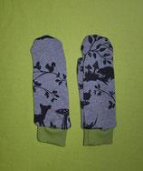 Handschuhe Waldtiere/grün lang Gr. 1