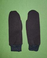 Handschuhe braun/schwarz melliert lang Gr. 2