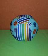 Luftballonhülle Fußball/bunt gestreift