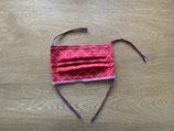 Mund-Nasenbedeckung rot/Herzen Frau