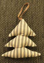 Weihnachtliches Bäumchen braun gestreift