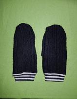 Handschuhe Strick schwarz/gestreift Gr. 4