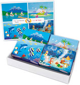 Set aus 4 Kinderpuzzles