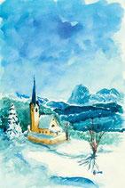 """Motiv """"Winterkirche"""""""