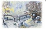 "Motiv ""Spaziergang im Schnee"" AU1014"