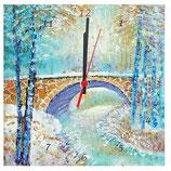 """Marmoruhr """"Brücke im Birkenwald"""""""