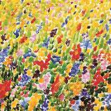 """Seidentuch """"Blumenmeer"""" gelb"""