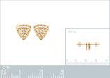 Boucles d'oreilles triangles oxydes