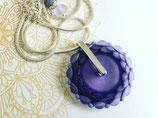 Collier mandala violet