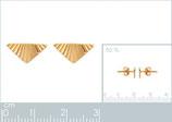 Boucles d'oreilles triangles ciselés