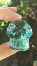 Andara schedel, smaragdgroen