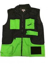 Weste schwarz-neon grün