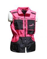 Weste pink-schwarz