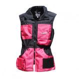 Weste schwarz-pink
