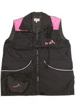 Weste Bonak schwarz-pink