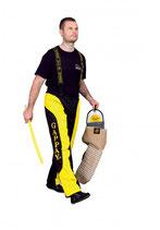 Schutzhose Champion Sport schwarz-gelb