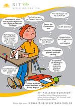 Comic gestresstes Kind Plakat DIN A2