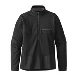 Patagonia LONG- SLEEVED R1 Field 1/4 ZIP BLACK