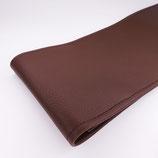 Porte-chéquier format long classique, simili grainé chocolat