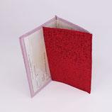 Etui carte-grise (simili), lurex rouge