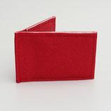 Porte-cartes sécurisé (simili) perlé (rouge ou ivoire au choix)