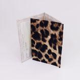 Etui carte-grise (simili), léopard