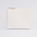 Porte-monnaie perlé ivoire (zip au choix) - zip en haut