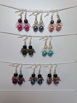 Engelohrringe aus Perlen