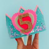 Hartjescijfer voor Confettikroon Pretty Pastel