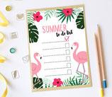 Flamingo Postkarte, Notizbuch oder Notizblock