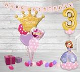 Luftballon Paket Geburtstag Prinzessin
