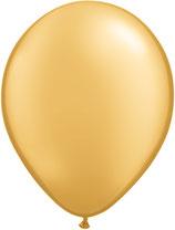 Gold - Latexballon rund