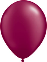 PEArl burgundy - Latexballon rund