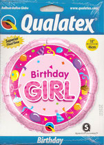 Ballon Geburtstag-Mädchen: Birthday Girl