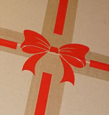 Sticker: Schleife für Versandkarton