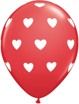 76928 Big Hearts Red - Latexballon rund