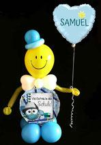 Geschenkballon Smiley zum Schulanfang